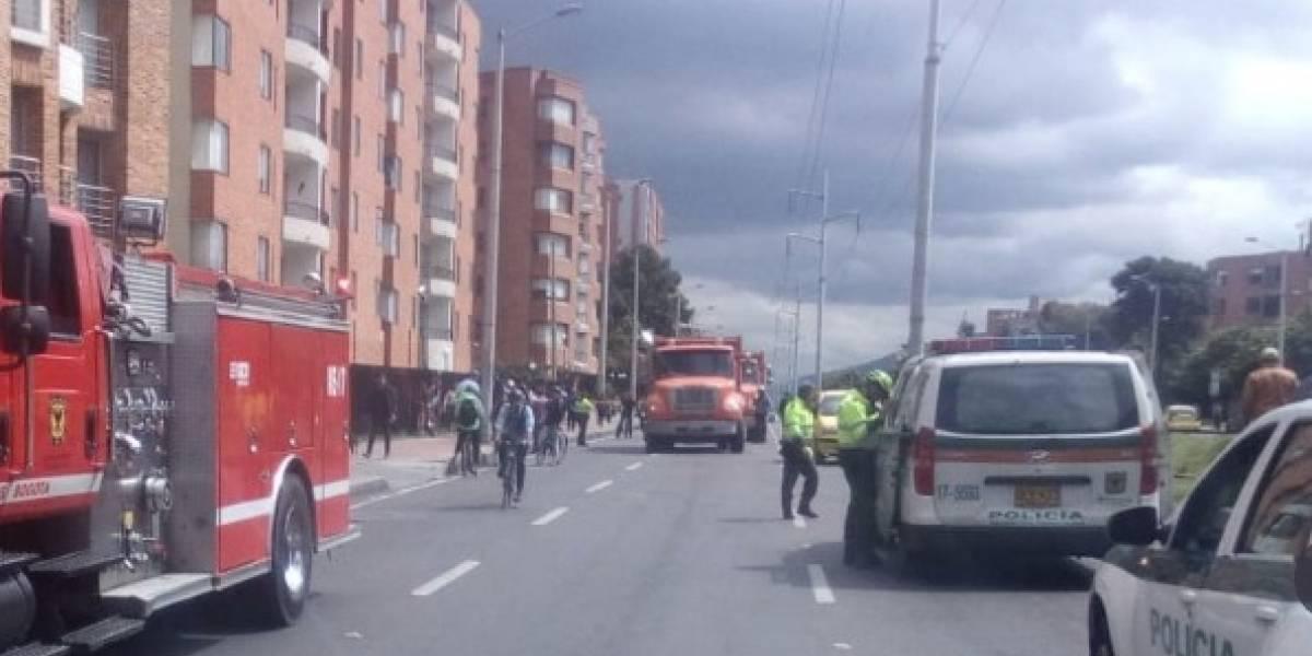 Murió joven ciclista al ser arrollado por una volqueta en Bogotá