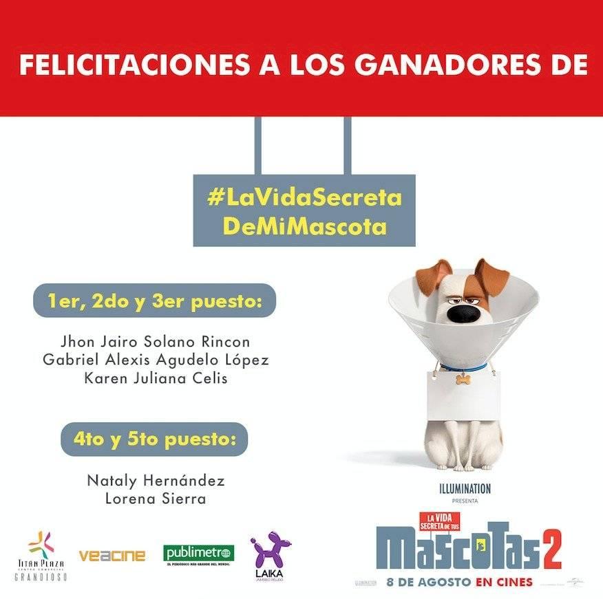GANADORES VIDA SECRETA DE LAS MASCOTAS 2