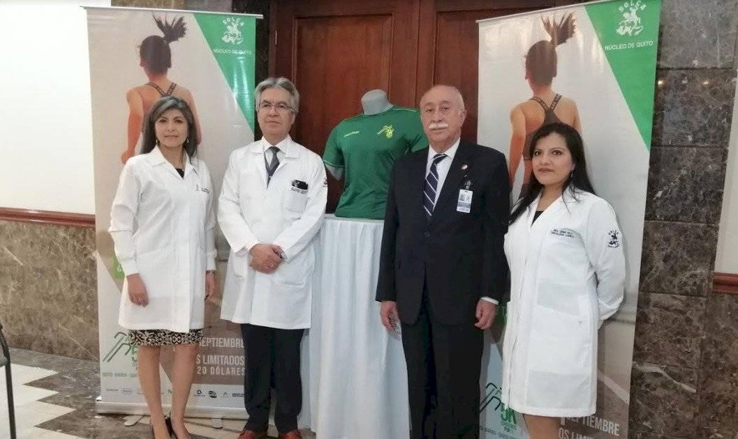 Presidente de Solca (núcleo capitalino), Jorge Cevallos Jácome, junto con doctores Metro Ecuador