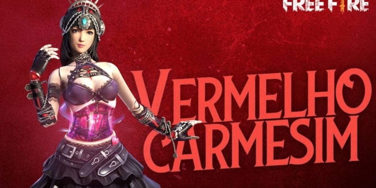 Vermelho Carmesim: Garena Free Fire libera novidade na loja do Cubo