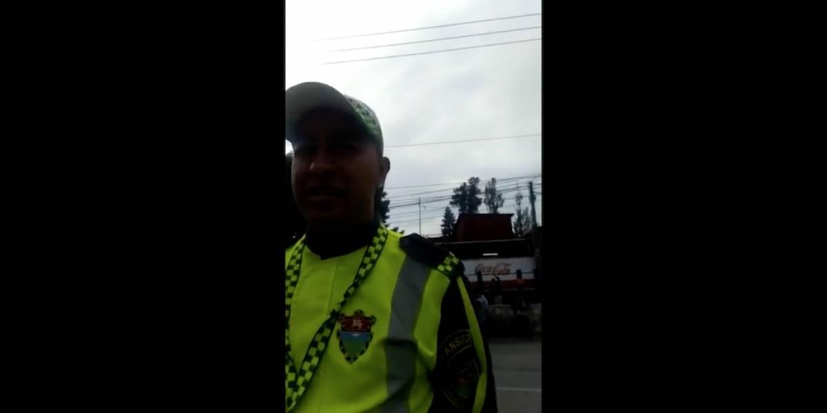VIDEO. Señalan supuesta intimidación de la PMT por apoyo a manifestación