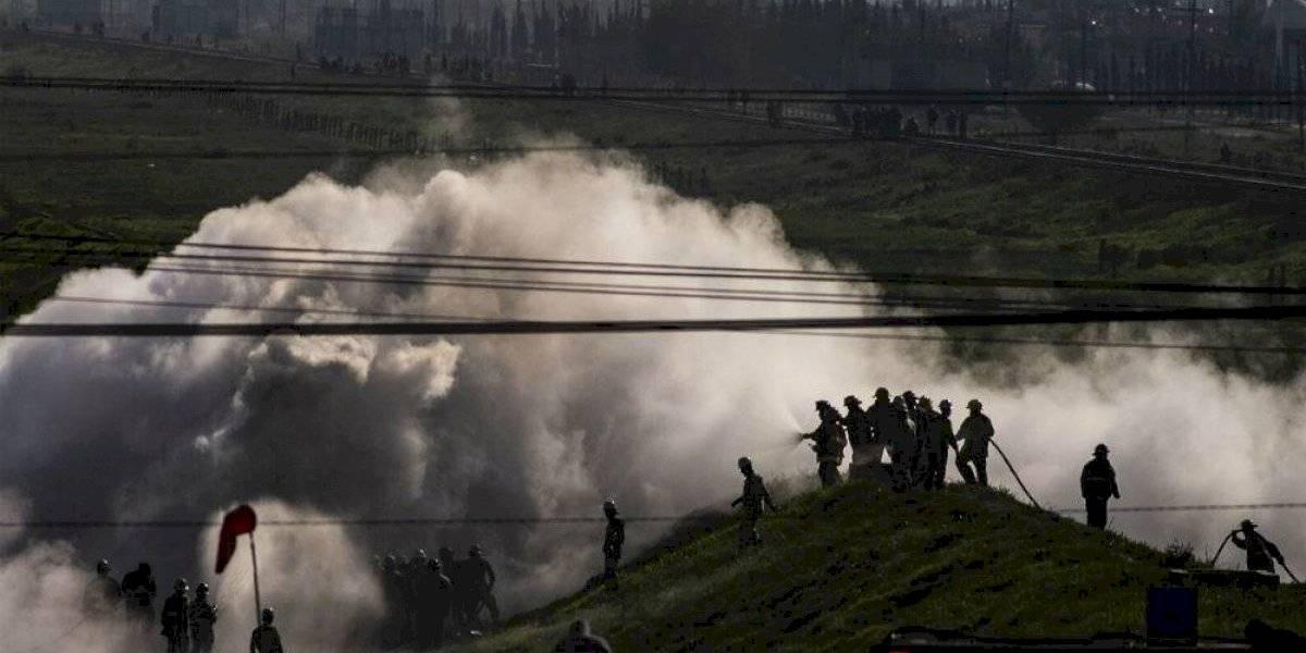 Analizan proceso para reparar fuga de gas en Nextlalpan