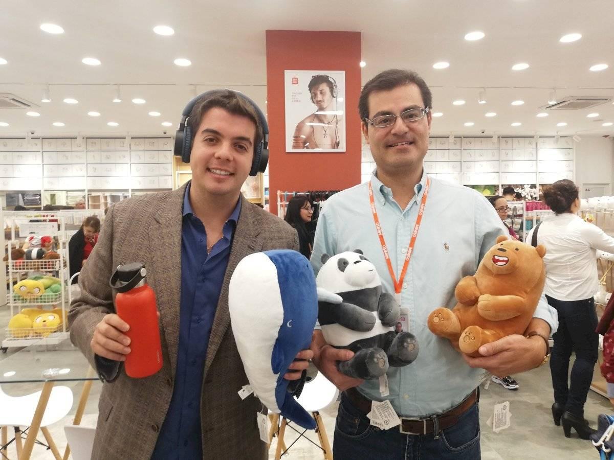 Simón y Pablo Acosta, gerente y presidente de Miniso Ecuador