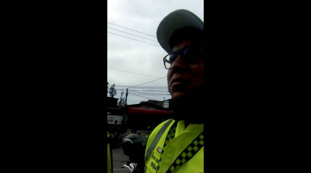 Señalan a agentes de la PMT pos supuesta intimidación. Foto: Facebook