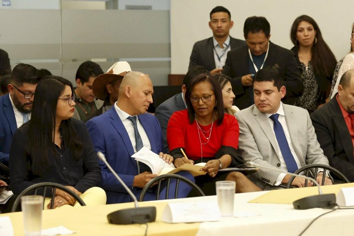 La Sesión de la Comisión de Fiscalización, recibe a los miembros del CPCCS, para que presenten sus pruebas de descargo, dentro del juicio político presentado en su contra, Asamblea Nacional.