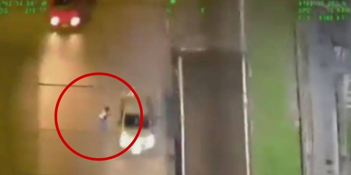 (VIDEO) Persecución de película con helicóptero terminó con la captura del terror de las mujeres en la autopista Norte