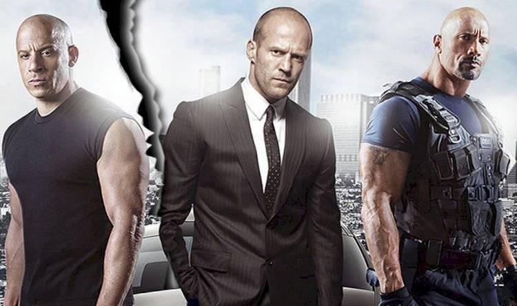 Dwayne Johnson, Jason Statham y Vin Diesel