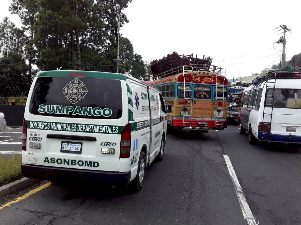 Accidente de tránsito en el kilómetro 37 de la ruta Interamericana. Foto: Bomberos Municipales Departamentales