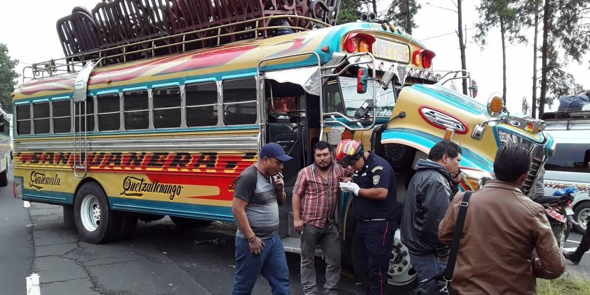 Bomberos reportan dos accidentes de tránsito en la ruta Interamericana