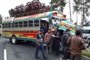Accidente de tránsito en el kilómetro 37 de la ruta Interamericana.
