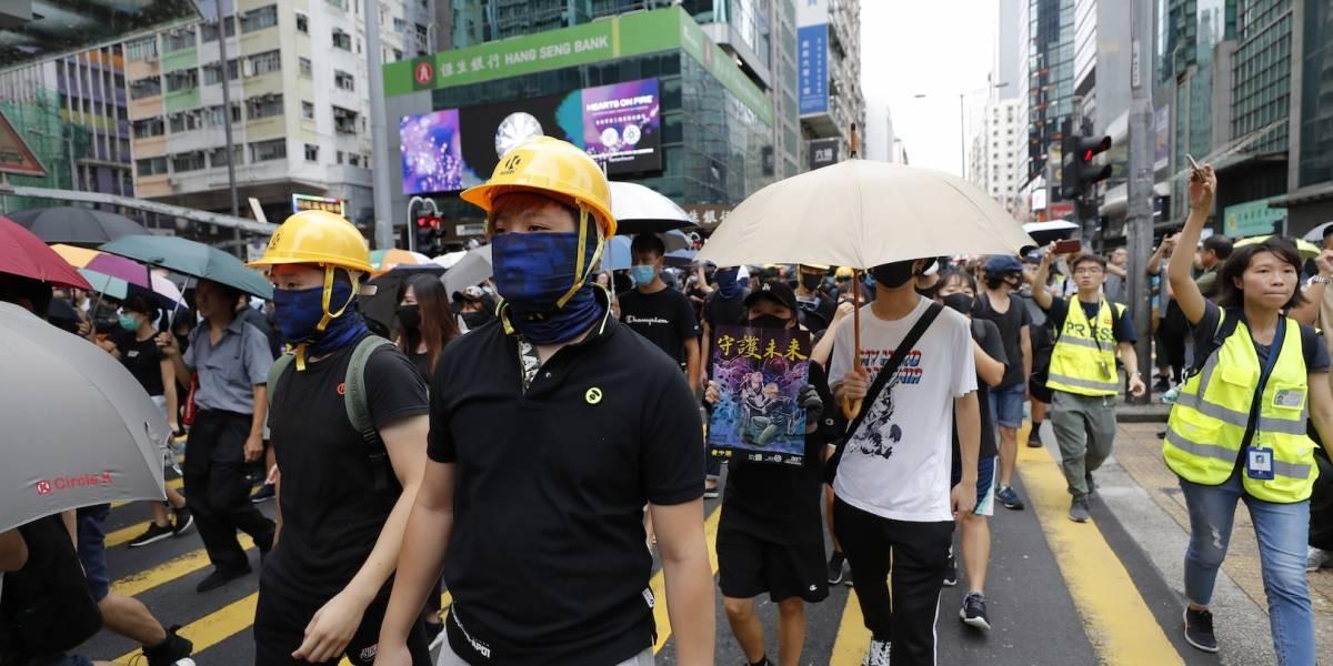 Por noveno sábado consecutivo, se registra marcha masiva en Hong Kong