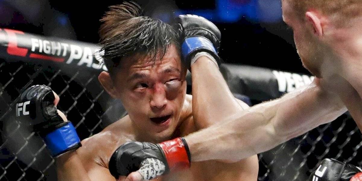 Peleador de UFC sufre terrible inflamación en un ojo
