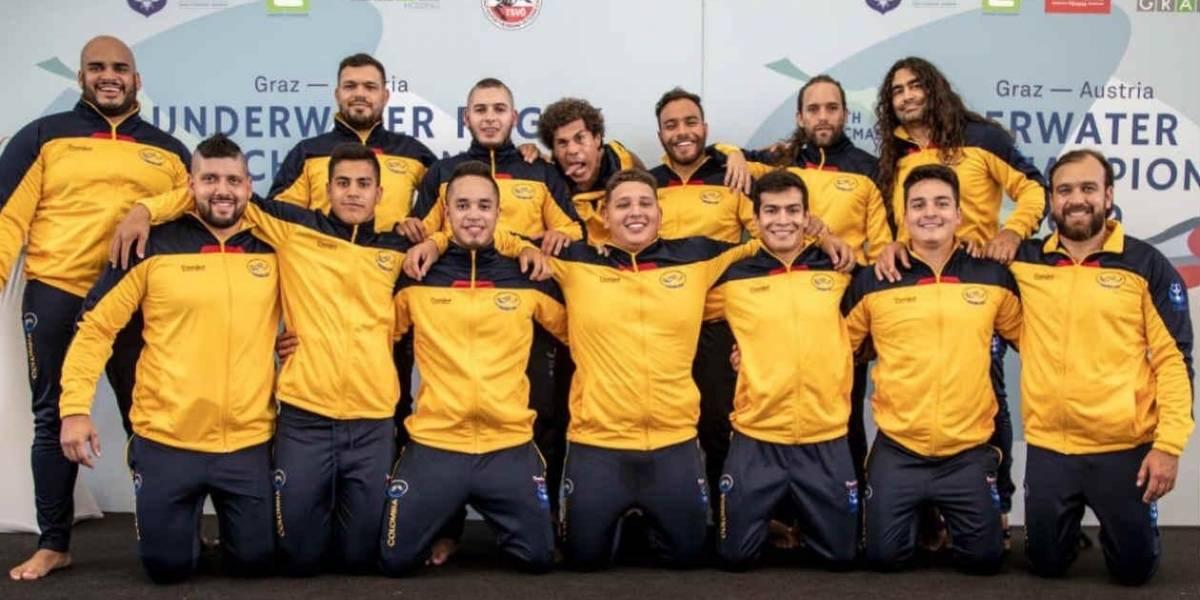 Selección Colombia, campeona del Mundial de Rugby Subacuático