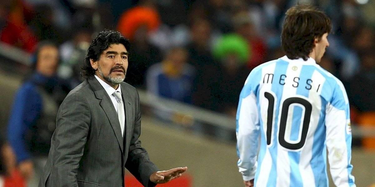 """Maradona: """"Me gusta este Messi en modo Maradona"""""""