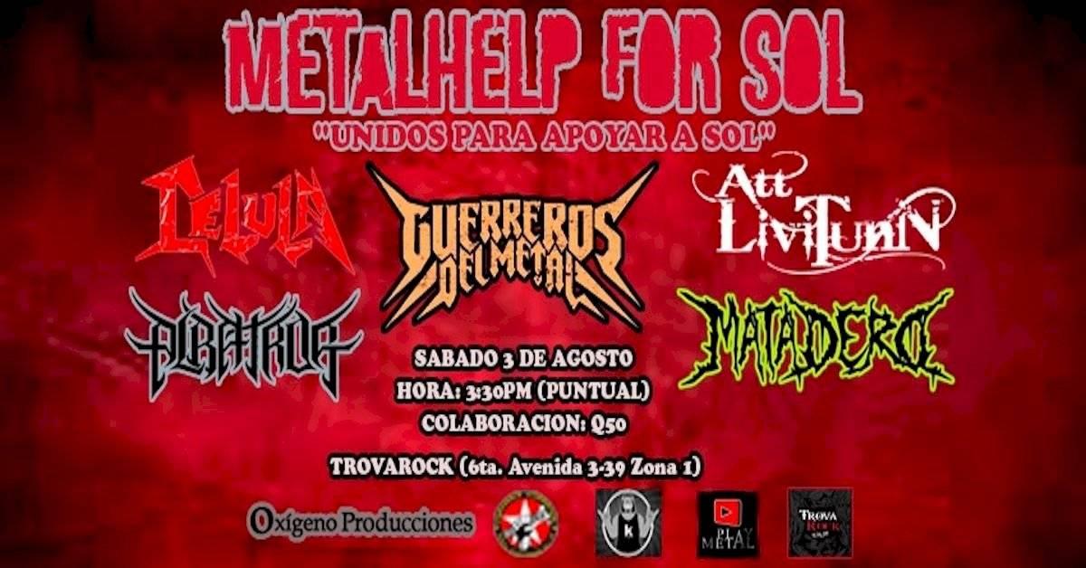 Varias bandas de metal se unen para causas benéficas. Foto: Nineth León