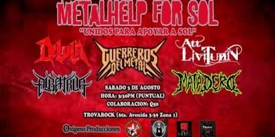 Varias bandas de metal se unen para causas benéficas.
