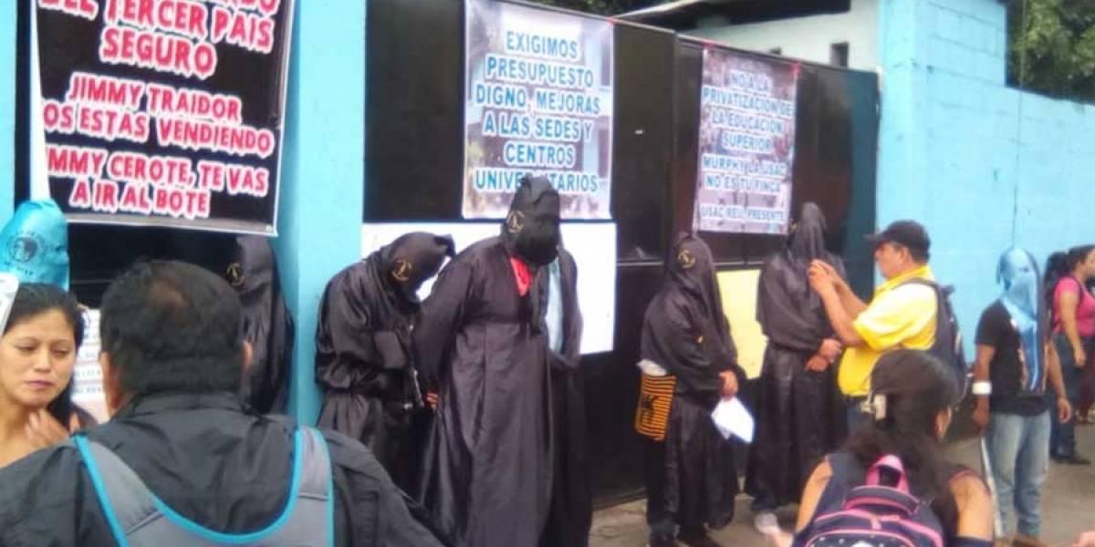 VIDEO. Comité de Huelga toma sede de la USAC en Retalhuleu