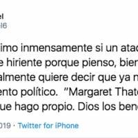 Tweet de la canciller Sandra Jovel.