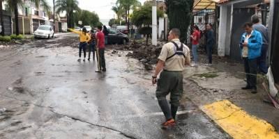 Tormenta con granizo causa graves daños hacia el poniente de la ZMG