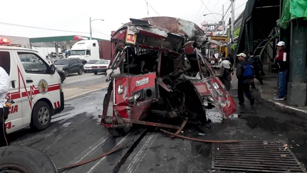Accidente del transporte colectivo. Foto: Archivo