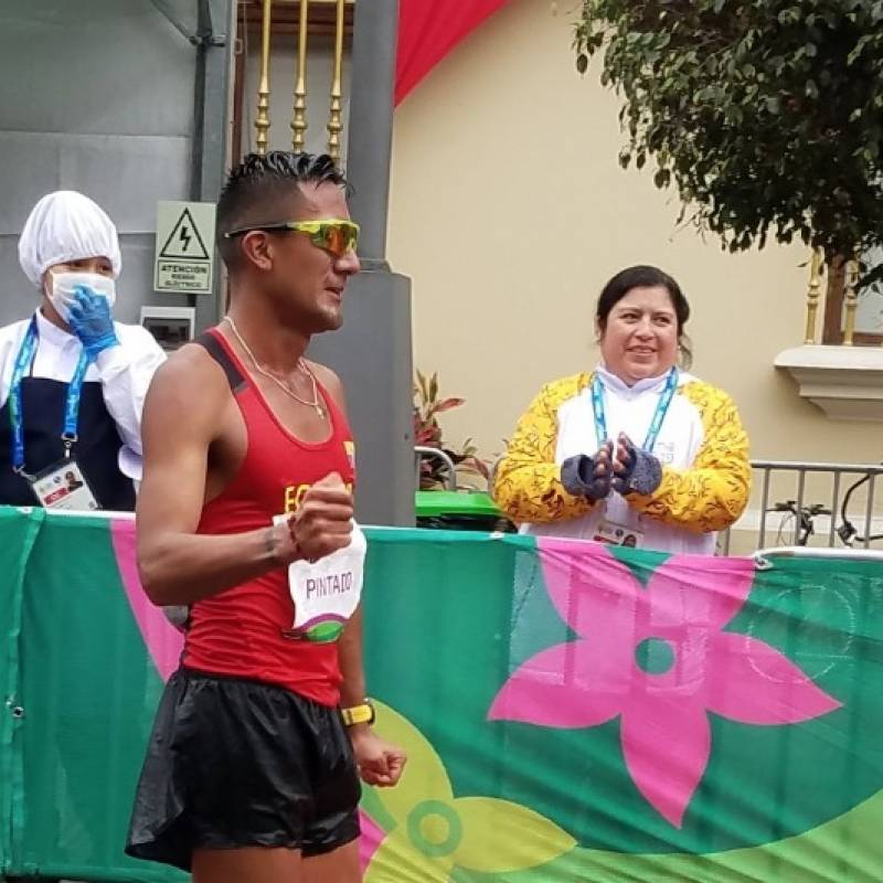 Ecuatoriano Brian Pintado brilla en marcha (m) 20 km de Lima 2019