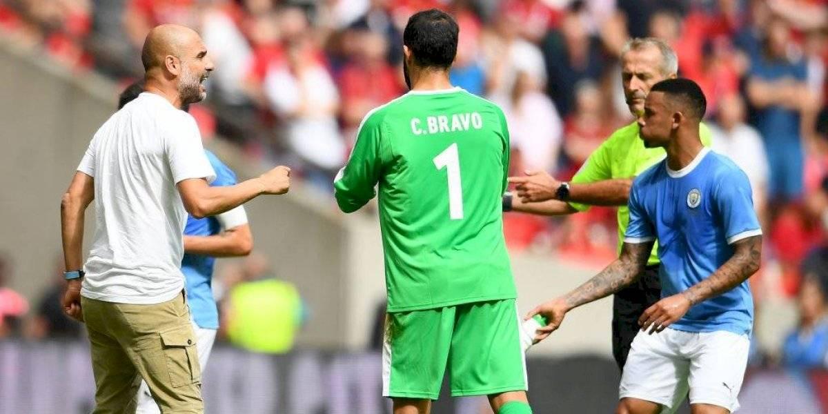 """Pep Guardiola: """"Claudio Bravo ganó el partido, es un increíble segundo arquero"""""""