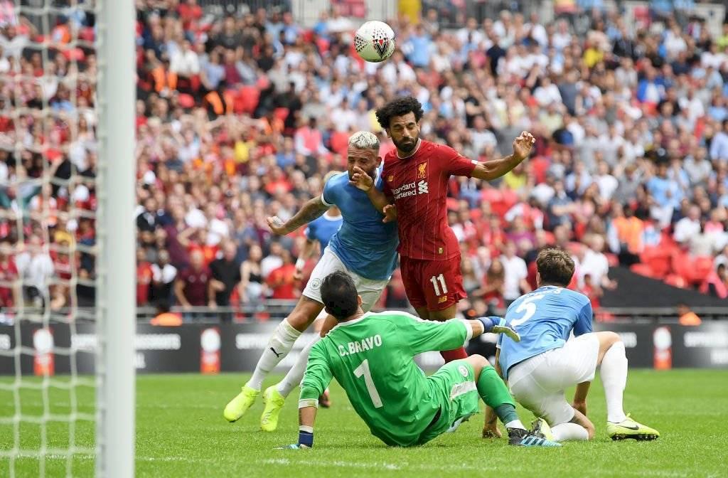 Mohamed Salah no pudo vencer a Claudio Bravo / Foto: Getty Images