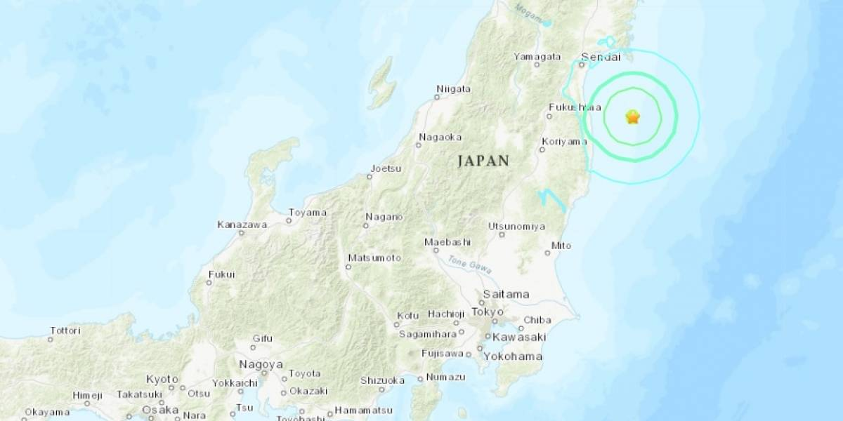 Terremoto de 6,2 grados sacudió Fukushima, en la costa este de Japón