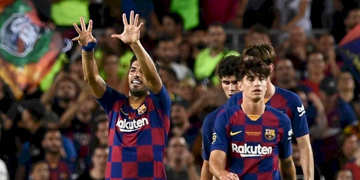 VIDEO. Luis Suárez anotó un extraordinario gol ante el Arsenal