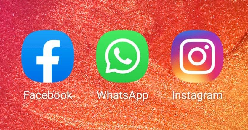 Facebook, WhatsApp, Instagram