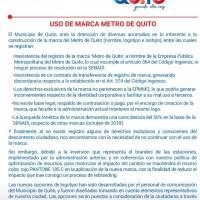 Alcaldía reformará el logo del Metro de Quito