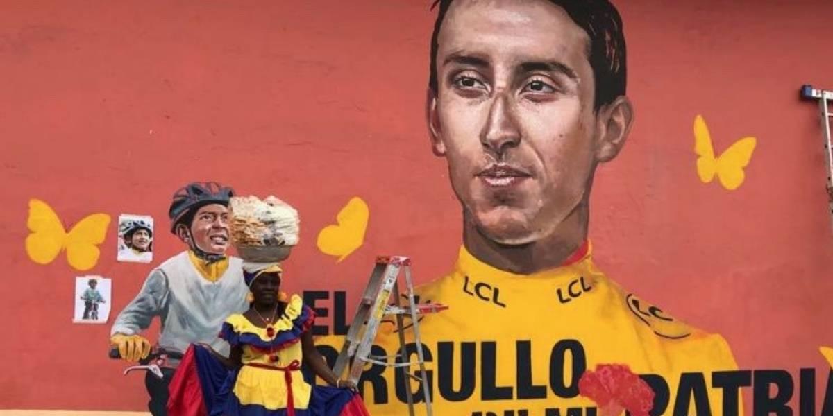 El espectacular mural en Zipaquirá que rinde homenaje al histórico triunfo de Egan Bernal