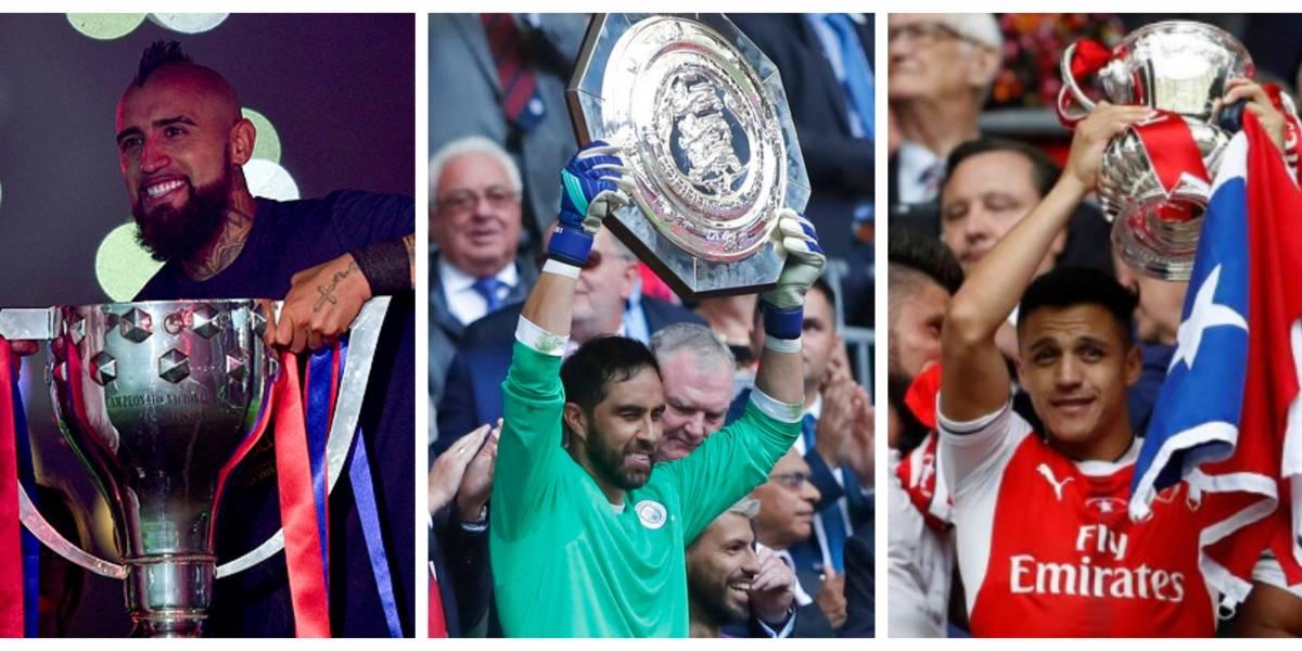 Bravo superó a Vidal como el Rey de los títulos chilenos en el fútbol de Europa