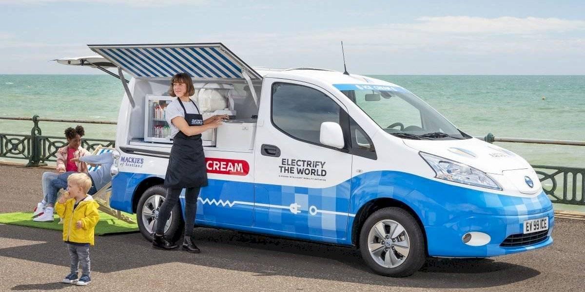 Nissan renueva las vans de helados con autos eléctricos