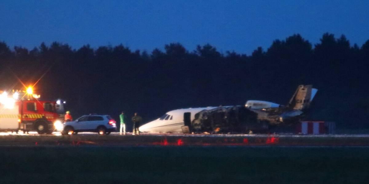 Jet donde viajaba su staff se estrelló en Dinamarca — Pink