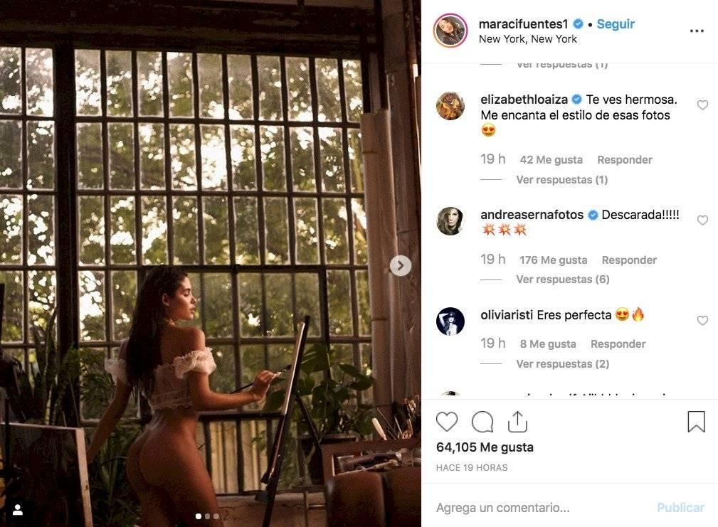 Captura de pantalla Instagram Mara