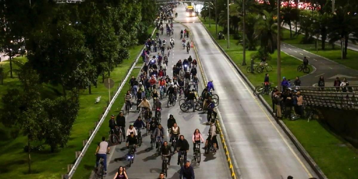 Conozca la vías habilitadas para la ciclovía nocturna de este jueves en Bogotá