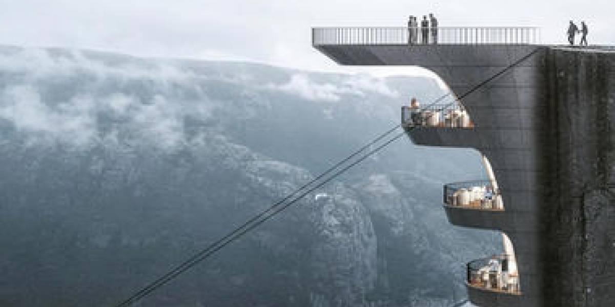 Asombroso hotel colgará sobre un acantilado