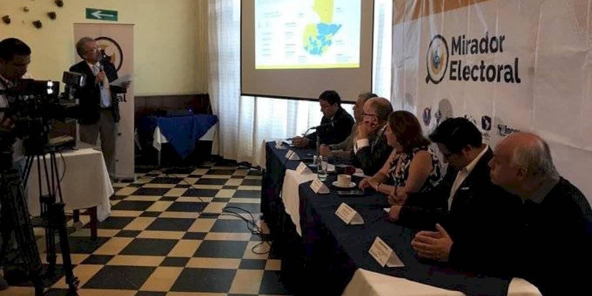 Mirador Electoral presenta informe sobre gastos de campaña de UNE y Vamos