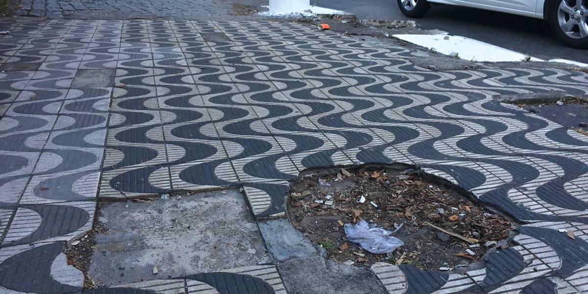Buraco em calçada é pior problema no caminhar em SP