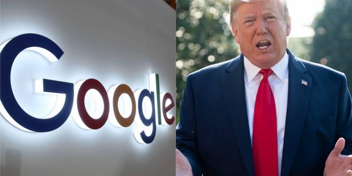 Trump acusa a Google de perjudicarlo y le lanza una advertencia