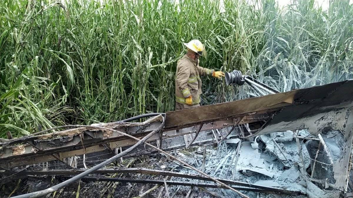 Avioneta se desploma en Tototlán, colisionó con unos cables
