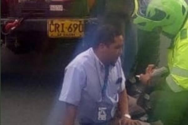 Capturan al bárbaro que atropelló con su vehículo a conductor del SITP
