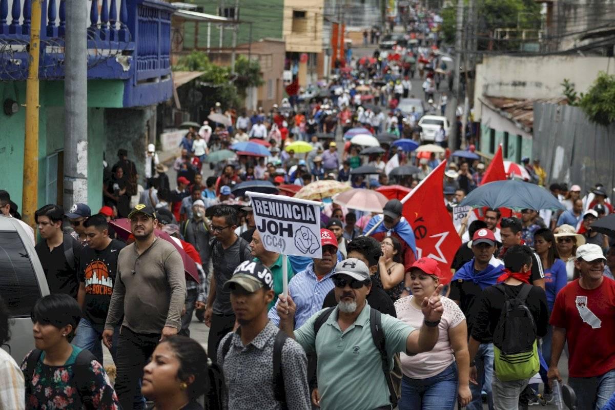Manifestaciones en Honduras pidiendo la renuncia del presidente Foto: AP