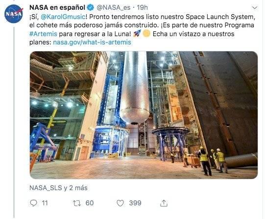 NASA responde mensaje amoroso de Karol G a su pareja Anuel AA