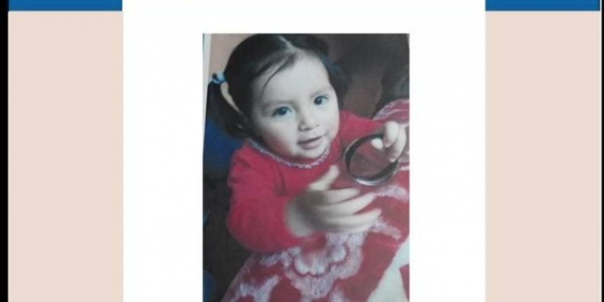 Anahí Miranda, niña de dos años, se encuentra desaparecida