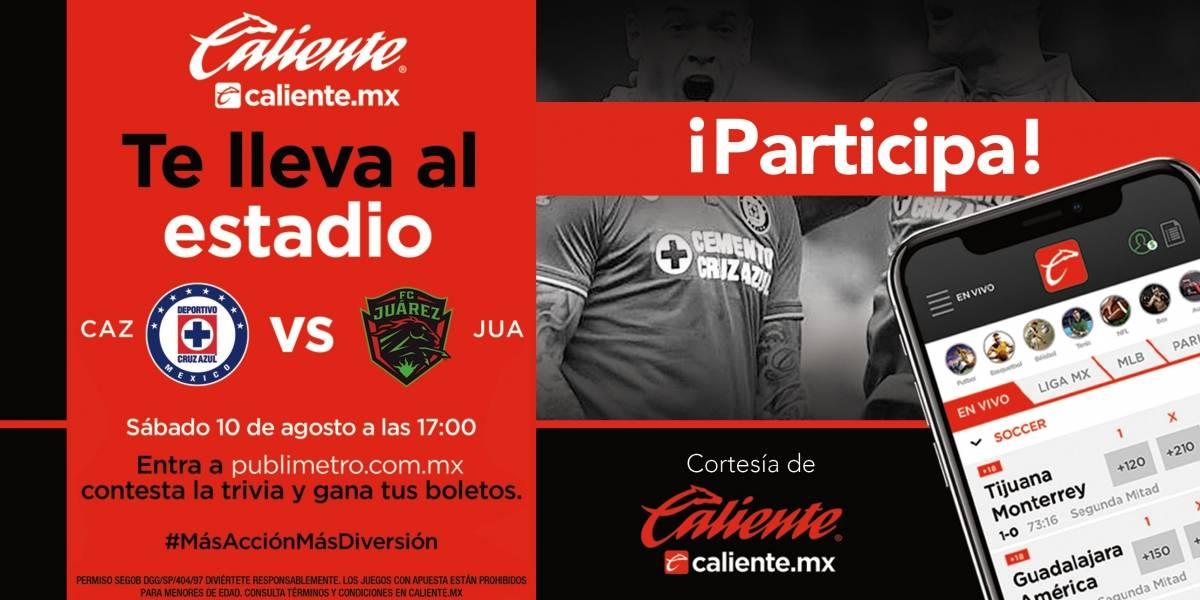 Gana pase doble para el partido Cruz Azul vs FC Juárez