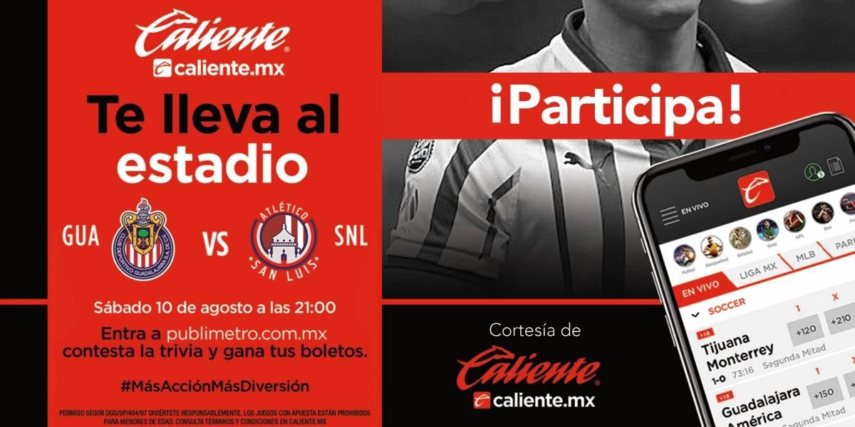 ¡Gana! pase doble para el partido Chivas vs Atlético San Luis