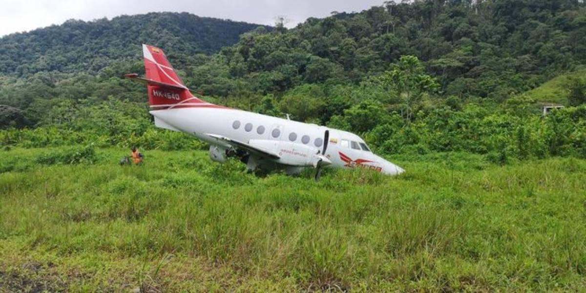 Avión se salió de la pista de un aeropuerto en Chocó