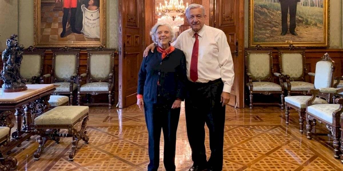 AMLO invita a Poniatowska a conmemorar el Grito en Palacio Nacional